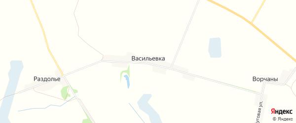 Карта поселка Васильевки в Брянской области с улицами и номерами домов