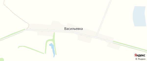 Лесная улица на карте поселка Васильевки с номерами домов