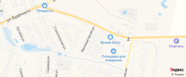 Мелиоративная улица на карте Мглина с номерами домов