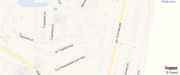 Микрорайон Дружба на карте Мглина с номерами домов