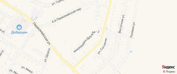 Микрорайон Дружба-2 на карте Мглина с номерами домов