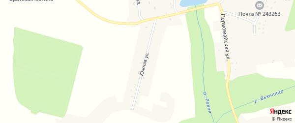 Южная улица на карте села Демьянки с номерами домов