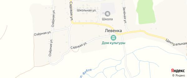Садовая улица на карте села Левенки с номерами домов