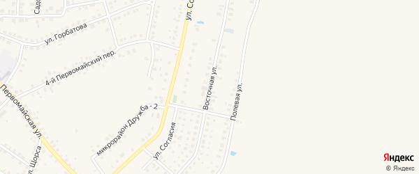 Восточная улица на карте Мглина с номерами домов