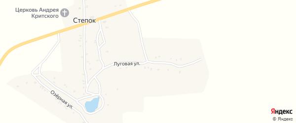 Луговая улица на карте села Степка с номерами домов
