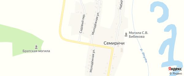 Молодежная улица на карте деревни Семиричей с номерами домов