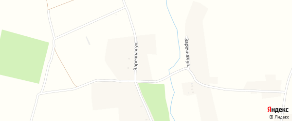 Заречная улица на карте села Демьянки с номерами домов