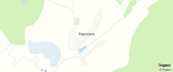 Карта деревни Харновки в Брянской области с улицами и номерами домов