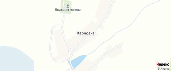 Приозерная улица на карте деревни Харновки с номерами домов