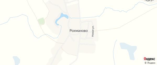 Карта села Рохманово в Брянской области с улицами и номерами домов