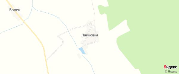 Карта деревни Лайковки в Брянской области с улицами и номерами домов