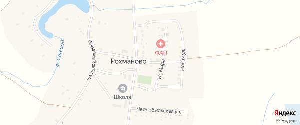 Молодежная улица на карте села Рохманово с номерами домов