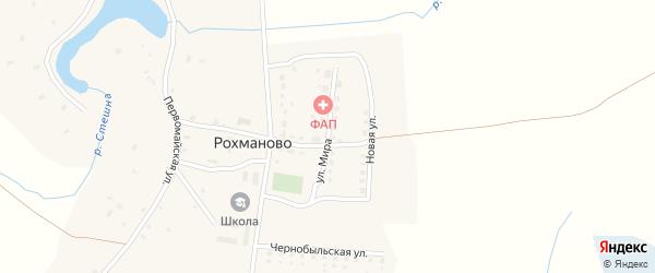 Улица Мира на карте села Рохманово с номерами домов