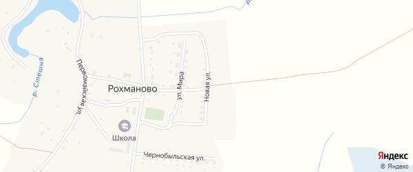 Новая улица на карте села Рохманово с номерами домов