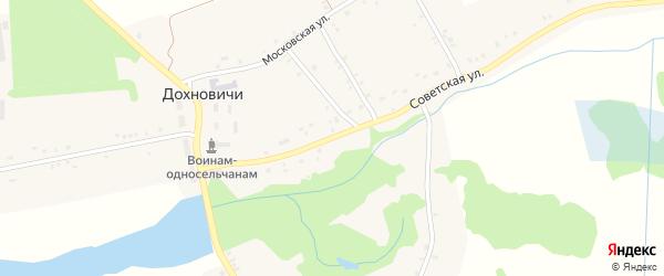 Советская улица на карте села Дохновичи с номерами домов