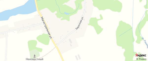 Заречная улица на карте села Дохновичи с номерами домов