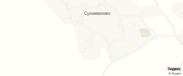 Луговая улица на карте деревни Суховерхово с номерами домов