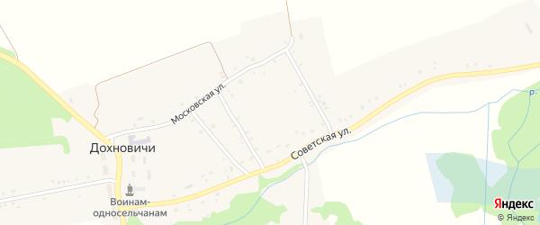 2-й Советский переулок на карте села Дохновичи с номерами домов
