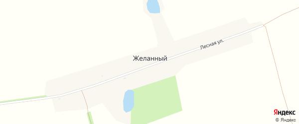 Лесная улица на карте Желанного поселка с номерами домов
