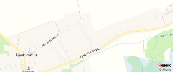 3-й Советский переулок на карте села Дохновичи с номерами домов