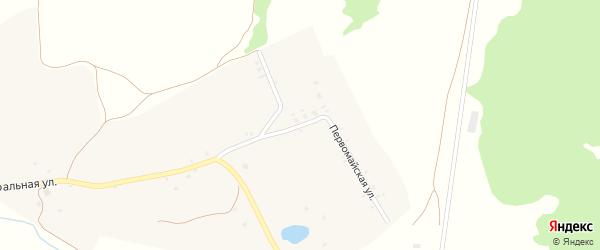 Первомайская улица на карте села Левенки с номерами домов