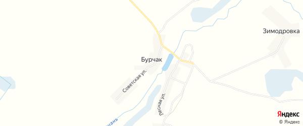 Карта деревни Бурчака в Брянской области с улицами и номерами домов