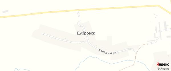 Советская улица на карте деревни Дубровска с номерами домов