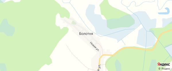 Карта деревни Болотни в Брянской области с улицами и номерами домов