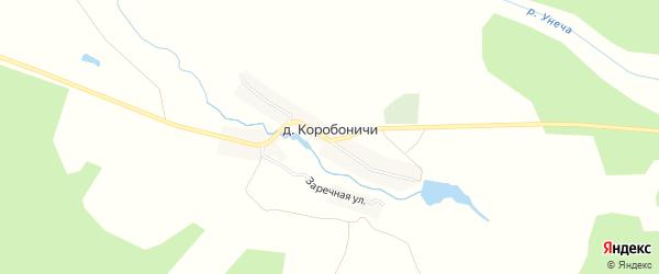Карта деревни Коробоничей в Брянской области с улицами и номерами домов
