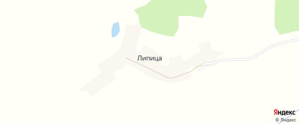 Луговая улица на карте поселка Липицы с номерами домов