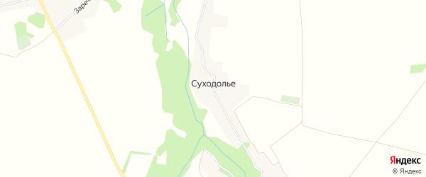 Карта села Суходолья в Брянской области с улицами и номерами домов