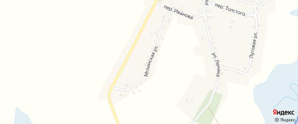 Мглинская улица на карте села Шумарово с номерами домов