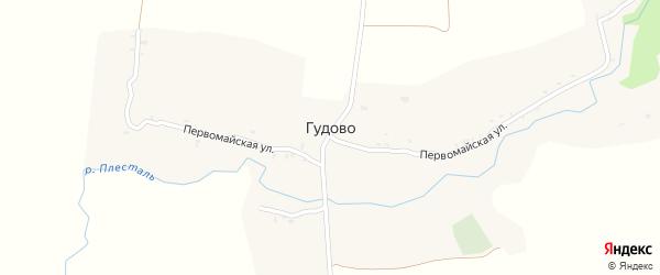 Пионерская улица на карте села Гудово с номерами домов