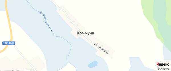 Улица Можаева на карте деревни Коммуны с номерами домов