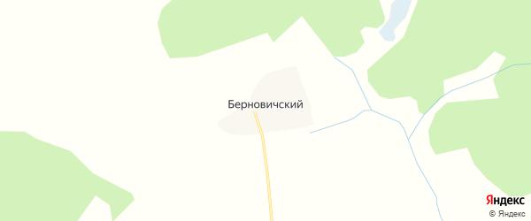 Карта Берновичского поселка в Брянской области с улицами и номерами домов