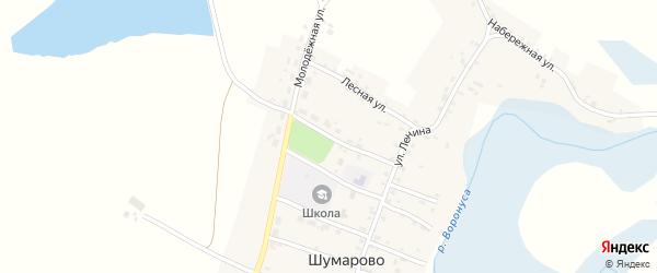 Молодежная улица на карте села Шумарово с номерами домов