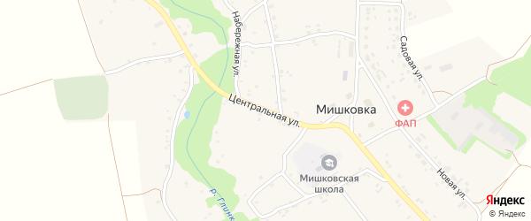 Центральная улица на карте села Мишковки с номерами домов