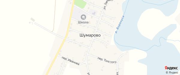 Переулок Гагарина на карте села Шумарово с номерами домов