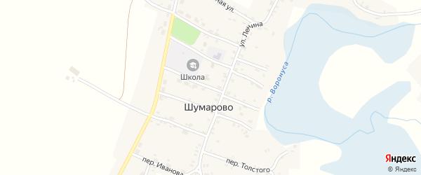 Переулок Рокоссовского на карте села Шумарово с номерами домов