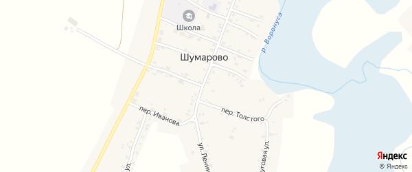 Первомайский переулок на карте села Шумарово с номерами домов