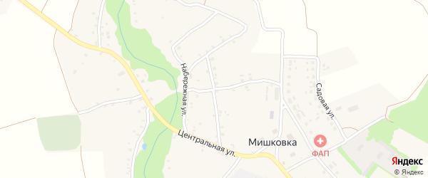 Солнечная улица на карте села Мишковки с номерами домов