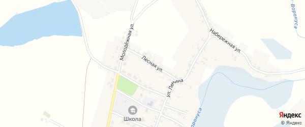 Лесная улица на карте села Шумарово с номерами домов
