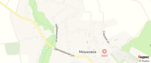 Солнечный переулок на карте села Мишковки с номерами домов