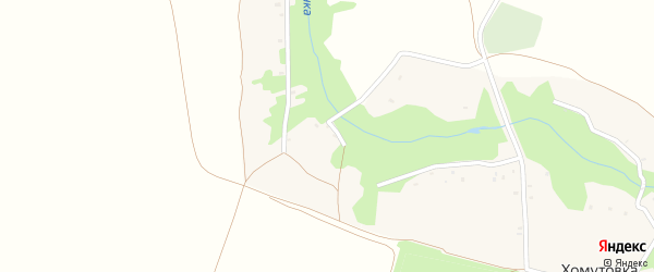 Лесная улица на карте села Мишковки с номерами домов