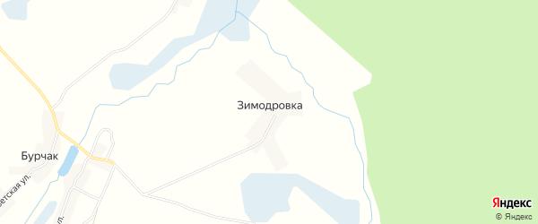 Карта деревни Зимодровки в Брянской области с улицами и номерами домов