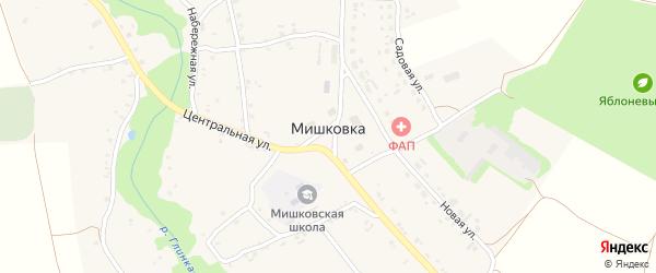 Зеленый переулок на карте села Мишковки с номерами домов