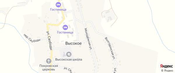 Молодежная улица на карте Высокого села с номерами домов