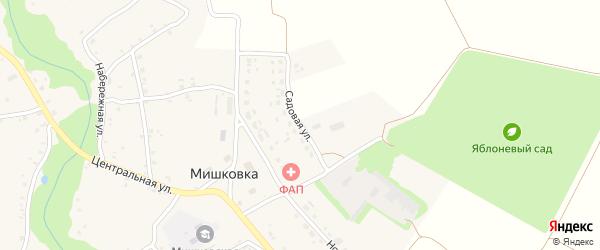Садовая улица на карте села Мишковки с номерами домов