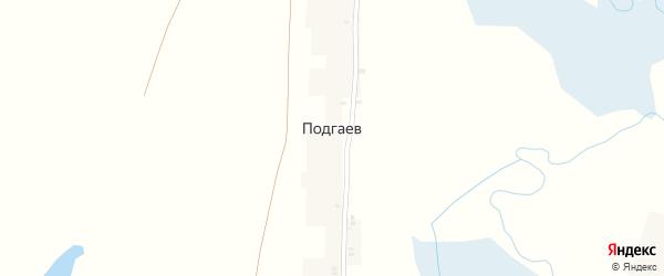 Полевая улица на карте поселка Подгаева с номерами домов