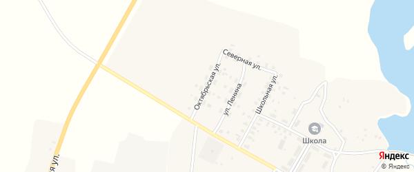 Октябрьская улица на карте села Меленска с номерами домов